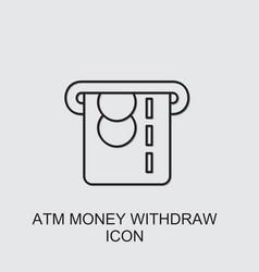 Atm money withdraw icon vector