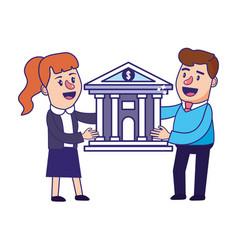banking teamwork financial planning vector image