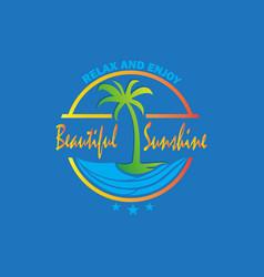 beautiful sunshine logo vector image