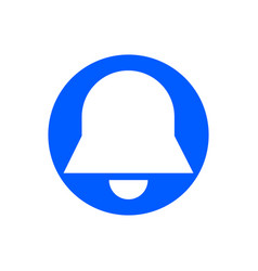 Bell glyph icon vector