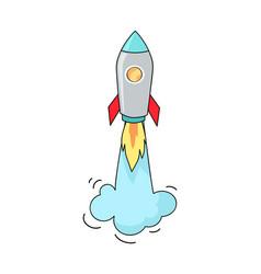 Big image of flying rocket vector