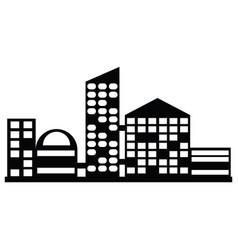 Black city icon vector