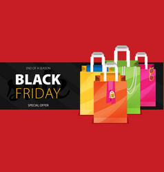 black friday big sale special offer end of season vector image