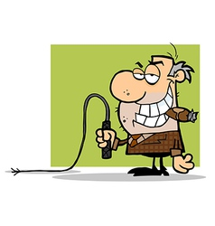 Boss With A Whip In His Hand vector image