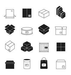 box symbols wooden and cardboard stack export vector image