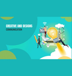 business creative vector image