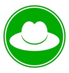 Button men hat vector