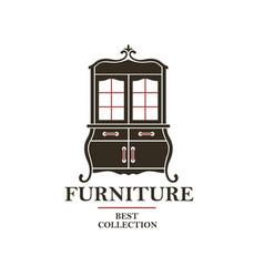 Cabinet furniture label vector