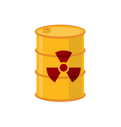 Chemical waste yellow barrel toxic refuse keg vector