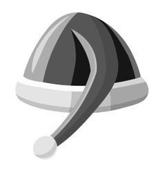 Christmas hat icon gray monochrome style vector image