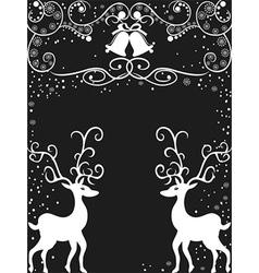 Christmas reindeer background vector