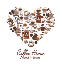 Coffee poster for cafeteria or coffeehouse vector