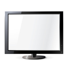 Computer display isolated on white Frontal view vector