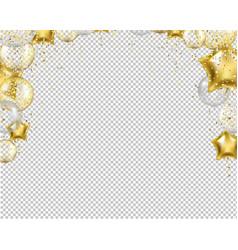 congratulation border with golden balloons vector image