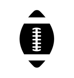 contour american football tool to play the sport vector image