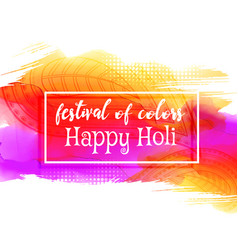 Creative happy holi festival background vector