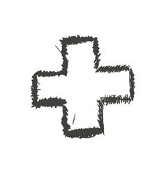 Cross sketch icon Shape design graphic vector