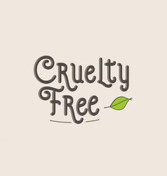 Cruelty free word text typography design logo icon vector