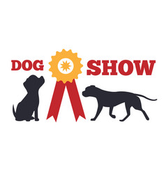 Dog show and prize poster vector