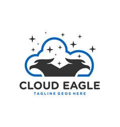 eagle cloud technology logo vector image