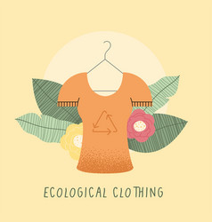 Ecological clothing lettering vector