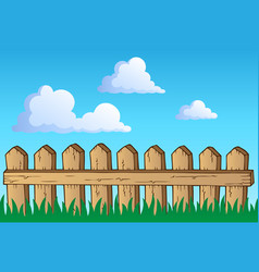 Fence theme image 1 vector