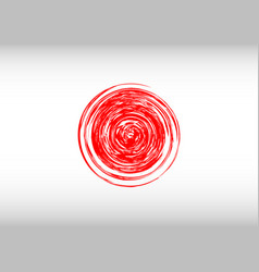 flag of japan with red rays stylization of vector image