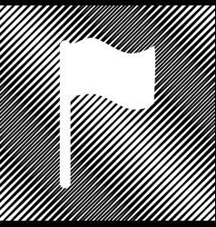 flag sign icon hole in vector image