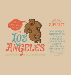 Font los angelesvintage typeface design vector