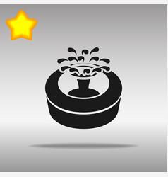 fountain black icon button logo symbol vector image