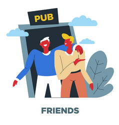 Friends human need relationship and friendship vector