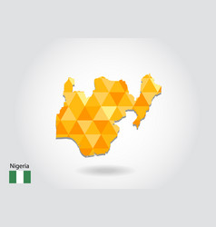 Geometric polygonal style map of nigeria low poly vector