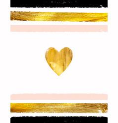 Gold paint glittering textured art vector