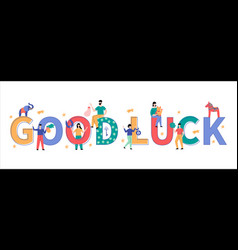 Good luck big letters vector