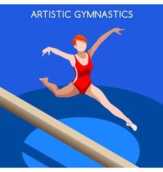 Gymnastics Balance Beam 2016 Summer Games 3D vector image