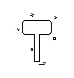 hammer tools icon design vector image