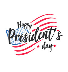 happy presidents day background or banner g vector image