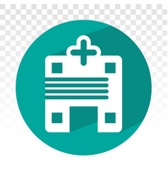Hospital building or emergency room flat icon vector