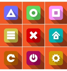 Icon set in flat design vector image