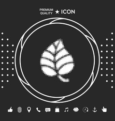 leaf symbol - halftone logo graphic elements for vector image