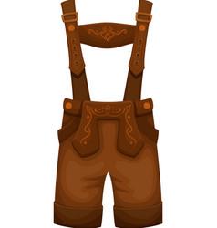 Lederhosen mens costume vector