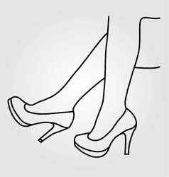 legs of a woman wearing high heels vector image
