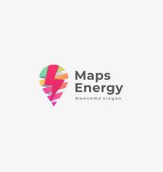 logo maps energy colorful style vector image