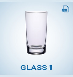 long drink glass isolated on a background vector image