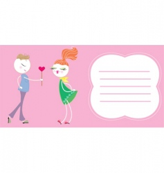 love boy and girl vector image