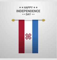 Mari-el independence day hanging flag background vector