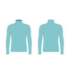 Mens blue long sleeve t shirt vector