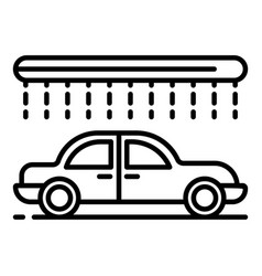 modern car wash icon outline style vector image