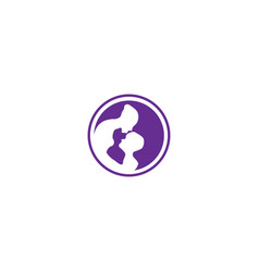 mom and kids bacare simple logo template vector image