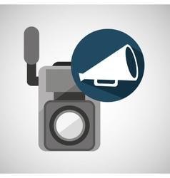 Movie video camera speaker vintage vector